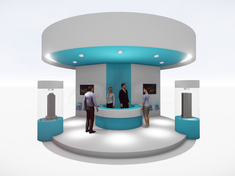 Modern Exhibition Stand Goal : Exhibition stand design template messestand by