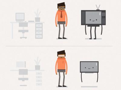 DSTV vector tv illustration