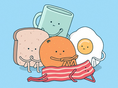 The Breakfast Club  illustration breakfast 80s parody