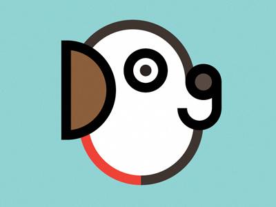 Dog dog vector typography minimalism