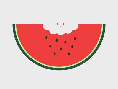 Water Melon fruit food watermelon threadless vector illustration