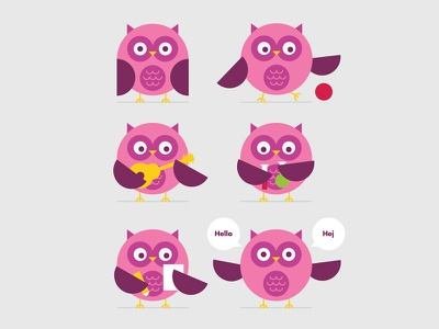 Owl Mascot animal owl vector mascot illustration