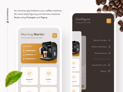 ☕️Coffee Machine App Prototype uiux design animation ui