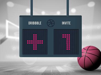 Scored an Invite 🧺 basketball scoreboard inspiration dribbble invite invite