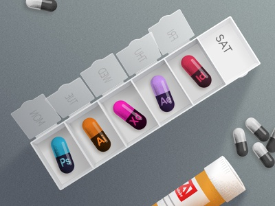 Adobe Capsules 💊 grain color medicine drug capsule illustration illustrator photoshop adobe inspiration graphicdesign