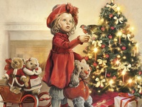 Christmas illustration for the Museum of dolls