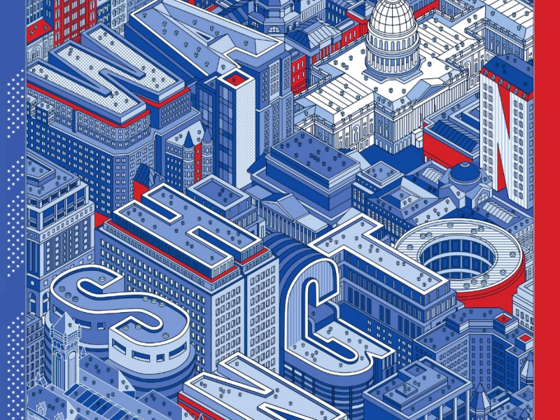 Washington gift city washington illustrations vector