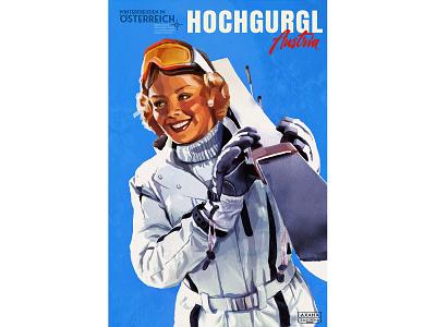 "Vintage travel poster ""Hochgugl"""