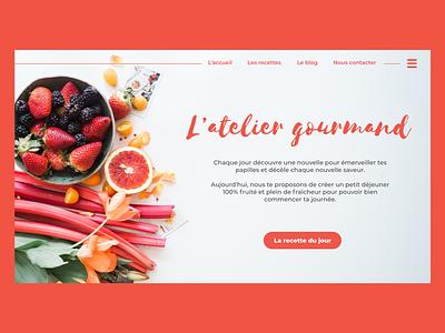 / Design interface / desktop design interface foodinterface food uidesign design adobe xd webdesign ui