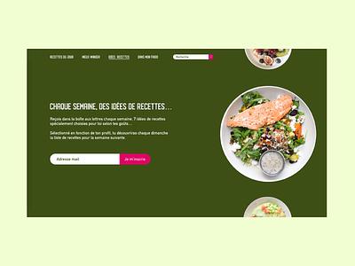 / Subscribe / desktop design desktop food uidesign dailychallenge dailyui adobe xd design webdesign ui