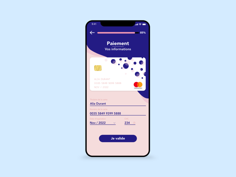 / Credit Card Check Out  - Part 1 / adobe photoshop adobe xd webdesign mobile dailychallenge dailyui ui design