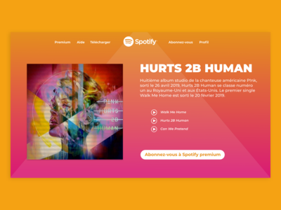Landing Page For Music Website