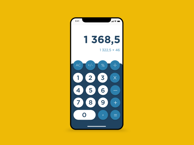 / Calculator / calculator mobile adobe xd photoshop dailychallenge dailyui uidesign ui webdesign