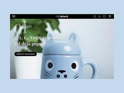 / L'aty[pique] / desktop design e-shop e-commerce desktop graphisme graphicdesign design uidesign webdesign ui slider