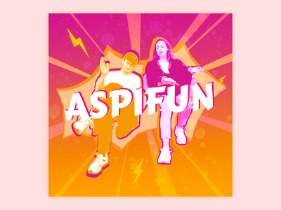 / Podcast Cover  - Part 1 / podcast logo podcast pink orange drawing photoshop branding illustration design