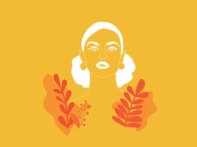 / Woman Illustration / yellow illustrator illustration art illustrations woman illustration woman portrait woman vector illustration