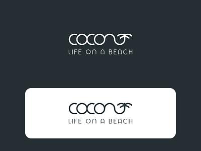 Coconut life on a beach logo travel elegant free daily simple ocean logo design logotype daily 100 challenge ux line art letter typography logo dailyicon brand challenge branding identity design