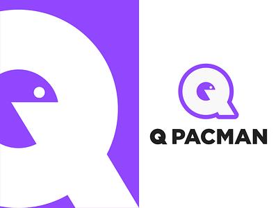 Q pac-man identity minimal symbol abstract retro dribbble dailyicon pacman graphic design community gamer logo gamer game art gaming design style challenge branding identity logo