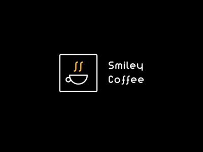 Smiley coffee white quarantine art abstract minimal night branding brand visual design creative concept symbol simple colors clean logo design logo coffee shop coffee cup coffee