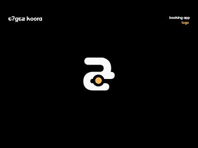 E7gez Koora   booking app daily 100 challenge football arabic logo daily booking dark dailylogochallenge dailyicon graphicdesign brand challenge style branding identity illustration logo design