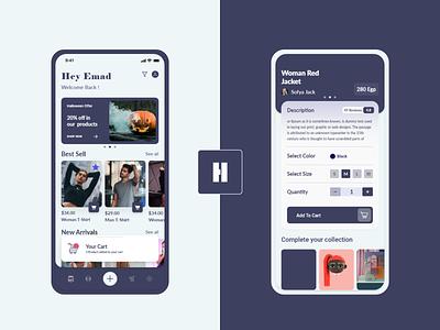 Homrz App & Web UX - UI Design xd clean ui design ui  ux interaction interface prototype product page web design cart mobile ecommerce branding ux ui