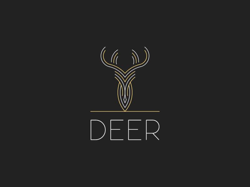 deer animal deer logo deer icon sticker mule coasters iconaday illustrator brand challenge dailyicon vector line art sticker illustration identity style design branding logo