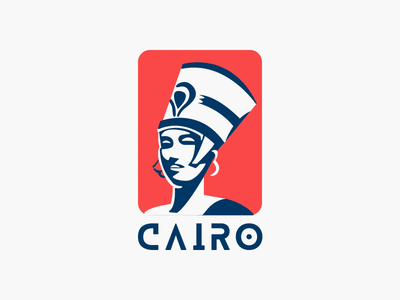 CAIRO Sticker simple warmup sticker cleopatra postcard mark minimal clean flat egyptian egypt cairo 2d flat illustration style illustration challenge design