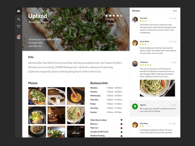 Brand Page - WIP design ui yelp minimal redesign project ux clean white elegant