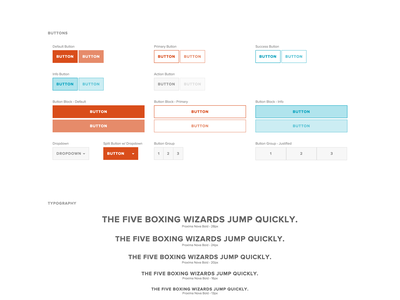 Shake - Styleguide brand styles forms icons buttons palette colors styleguide