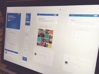 Abacus - Public Pages white careers product landing home about team colorful blue abacus redesign ui