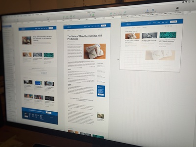 Blog Redesign - Abacus.com abacus sketch expense news article blue ui design redesign blog