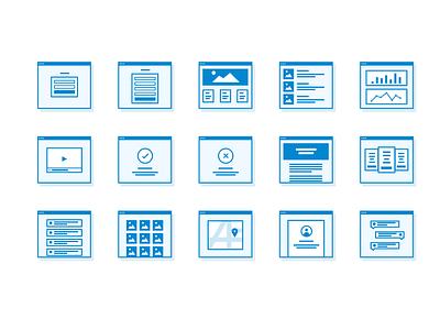 Freebie: Site Icons mockup wireframe site chart flow freebie file sketch free icons