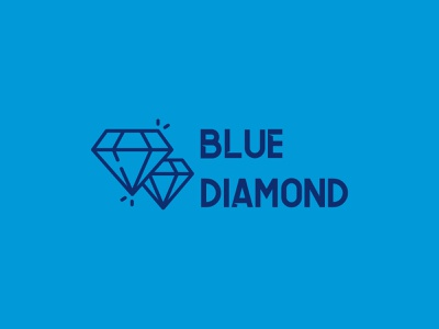 Blue diamond shape typography branding drawing colours vector illustration logo
