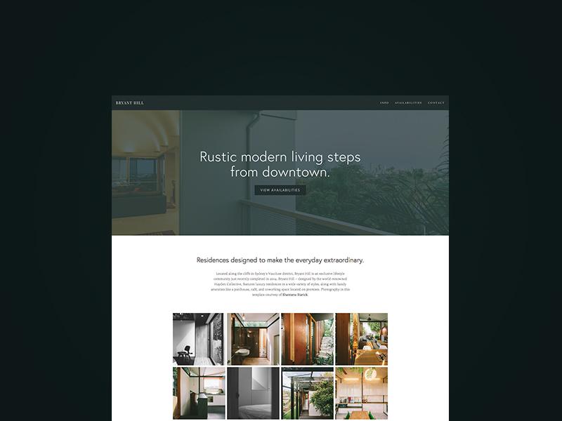 Bryant ui web template theme business squarespace website
