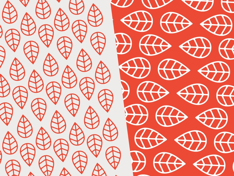 Milkweed Co. Pattern Exploration nature logo icon pattern design pattern leaf logo leaf red illustration branding design design brand pattern brand identity