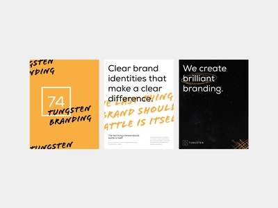 Tungsten branding typography use cases