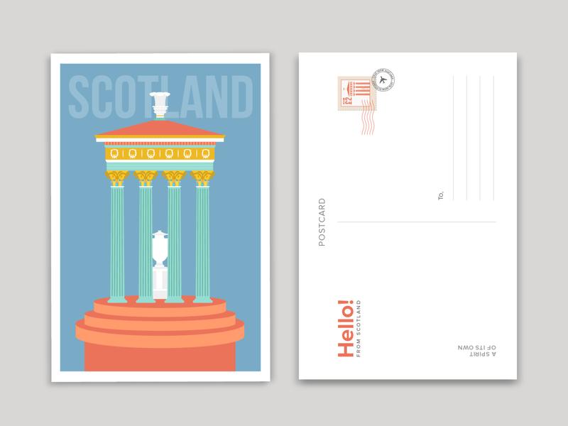 Scotland scotland illustrations scotland travel postcards postcards travel illustration travel flat illustration illustration design illustrator vector art illustration art digital illustration illustration adobeillustrator