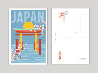 Japan travel illustration travel flat illustration illustration design illustration art vector art digital illustration illustrator illustration adobeillustrator shrine japanese art japan illustration japan