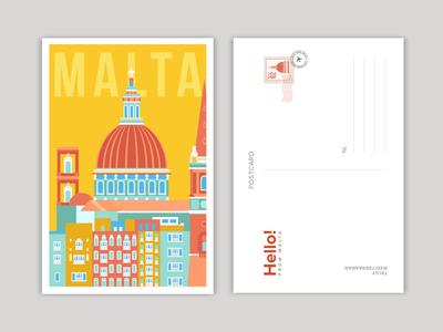 Malta malta illustration malta dribbble travel postcards illustration design flat illustration vector art illustration art illustrator digital illustration adobeillustrator illustration travel illustration
