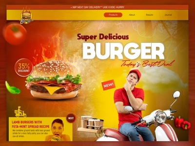 Food Banner homepage graphics ui  ux banner design clean banner design food branding graphic design 3d animation