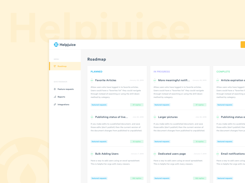 Feedback forum by Ana on Dribbble