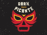 Dark and Picante Beer Label