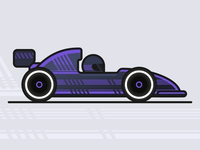 Bolide fast route driver racer drive racing driving purple art speed design vector formula illustration wheels race racing car car bolide