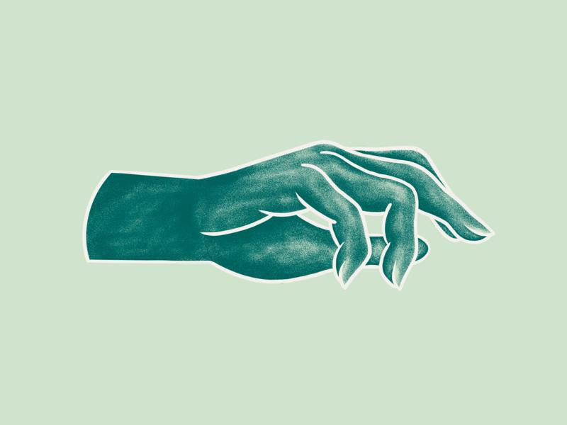Handy procreate illustration hand