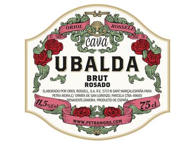 Label illustration and design for Oriol Rosell Cava