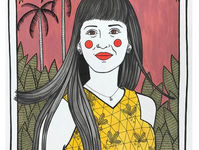 Illustrated portrait illustrator illustration agency girl character painting illustration art illustration