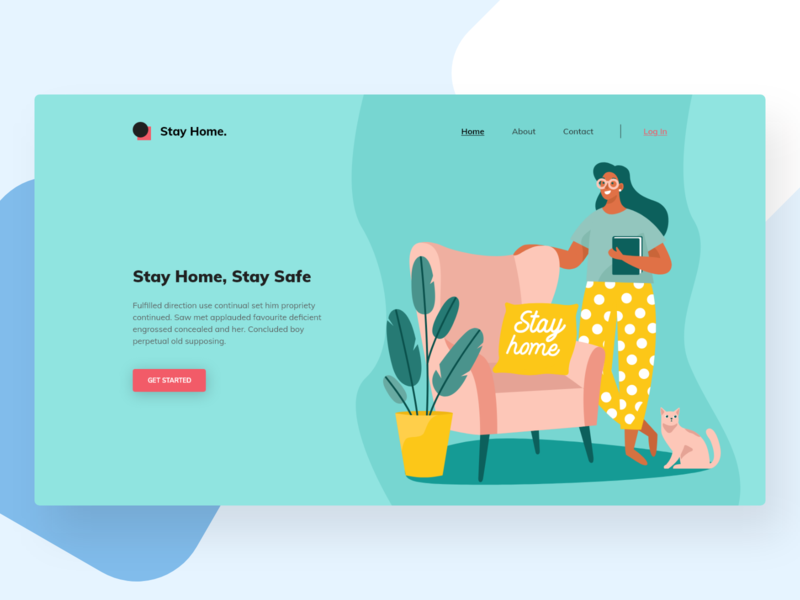 Remote Work Concept creative simple color vector figma adobe xd ui design ui design minimal illustration header web header