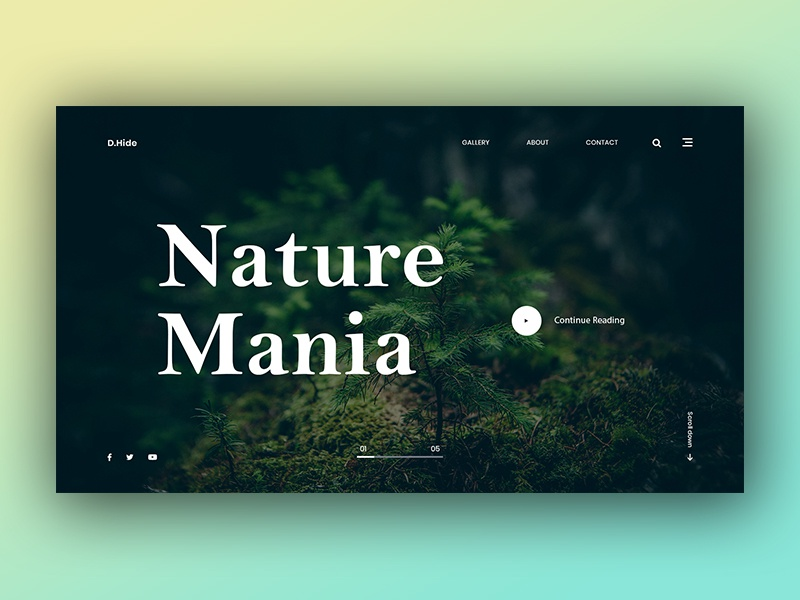 Nature Mania - Web Experimental Project web template ux design ui design simple color minimal landing page graphics design