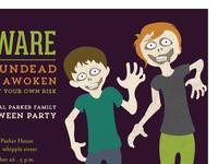 Zombie Kids Party Invitation