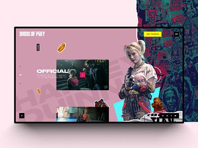 Birds-of-prey-🐱👤 movies graphic  design ux design web minimal interaction mobile design interaction design website webdesign uidesign
